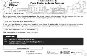 1ª AUDIÊNCIA PÚBLICA DO PLANO DIRETOR DE LAGOA FORMOSA